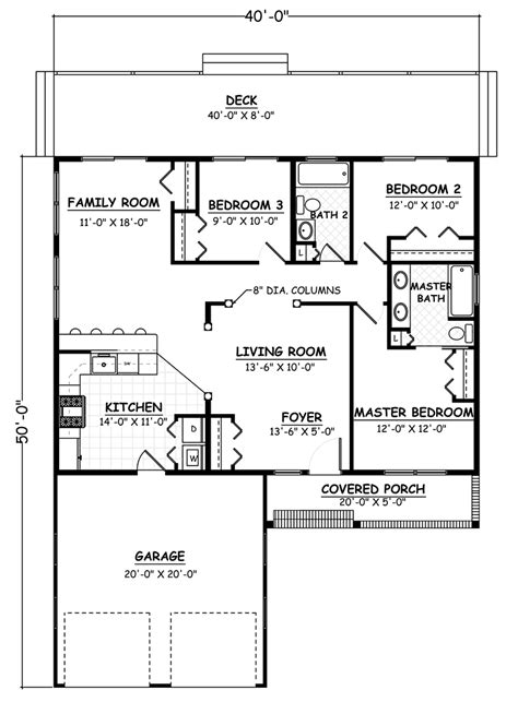 traditional style house plan    bed  bath  car garage   house plans