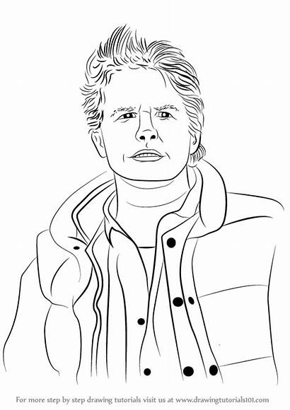 Marty Mcfly Draw Drawing Step Characters Learn
