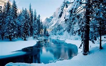 Winter Backgrounds Scenes Desktop Snow Wallpapers Snowy