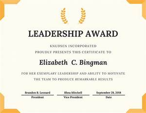 customize 534 award certificate templates online canva With certificate of leadership template