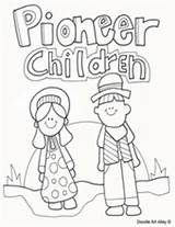 Coloring Pioneer Children Pages Template Printables sketch template