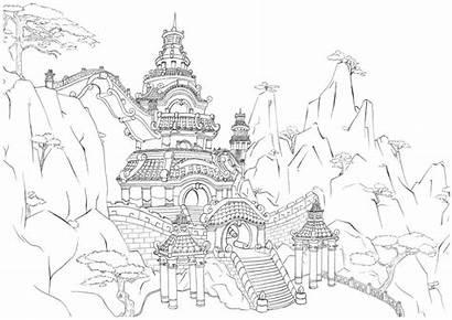 Palace Chinese Ancient Deviantart Palacio Drawn Chino