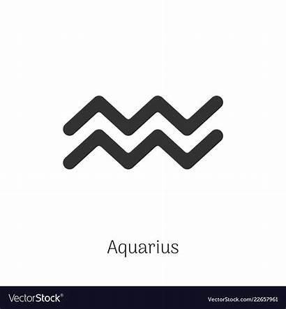 Aquarius Zodiac Isolated Horoscopes Vectors Whatsupyukon