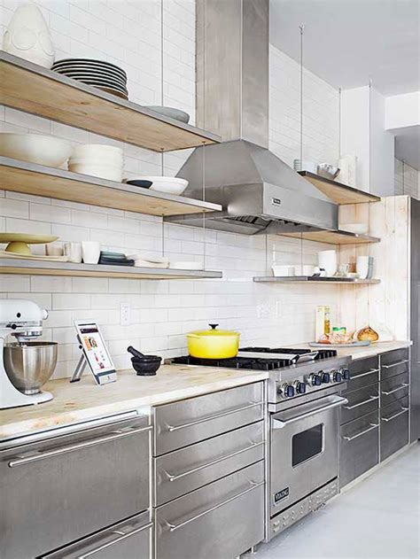 stainless shelves industrial kitchen pinterest industrial cabinets and kitchen cabinet colors on pinterest