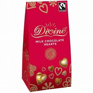 Milk Chocolate Hearts | Divine Chocolate | Chocolate Hearts
