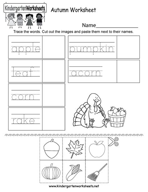 fall kindergarten worksheets fall worksheets free