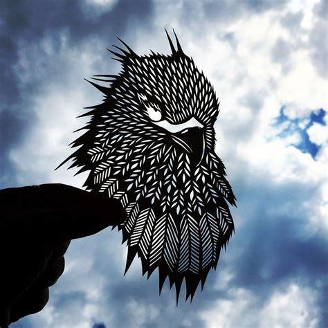handcut paper animals    sky  bring