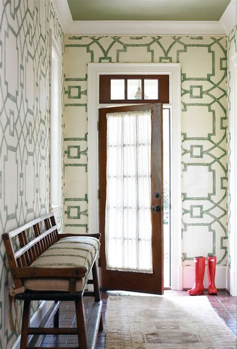 Wallpaper For Entryway by Wallpaper For Foyer Transitional Entrance Foyer
