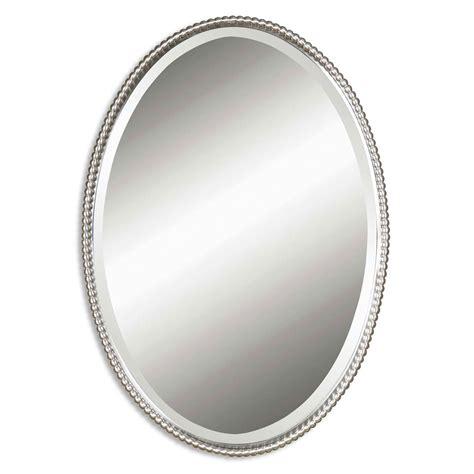 brushed nickel mirror sherise brushed nickel oval mirror uttermost wall mirror