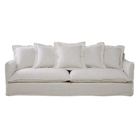 canape 5 places canapé 5 places en lavé blanc barcelone maisons du monde