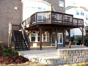 Elevated Deck Designs by Elevated Composite Deck Creating Covered Patio Area