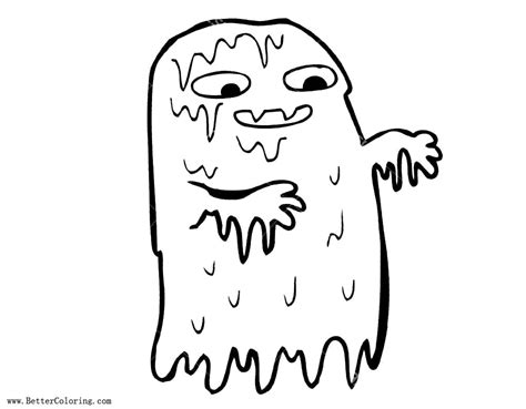 Coloring Slime by Gross Slime Coloring Pages Ghost Free Printable Coloring