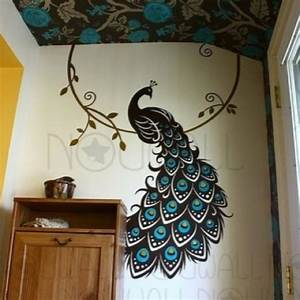 19 best house decor ideas images on pinterest metal wall for Best brand of paint for kitchen cabinets with peacock wall art sticker