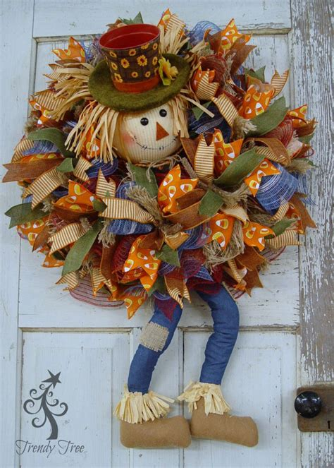 diy pot head scarecrow wreath trendy tree blog holiday