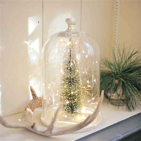holiday christmas glass dome terrarium tree christmas