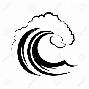 Ocean waves background clipart black