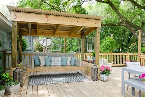 outdoor porch bed swing 20 amazing backyard living outdoor spaces