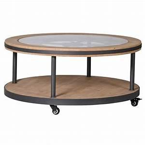 Table Basse Horloge : table basse horloge avec roulettes ~ Teatrodelosmanantiales.com Idées de Décoration