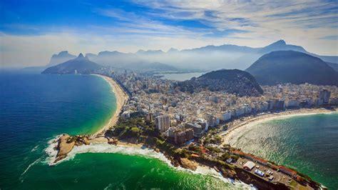 rio de janeiro copacabana beach  ipanema beach aerial view ultra hd  wallpapers  desktop
