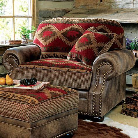 northern trails bear chair    rustic cabin decor