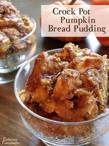 crock pot pumpkin bread pudding curious cuisiniere