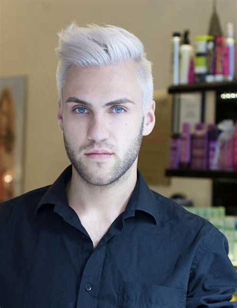 15 guy with white hair mens hairstyles 2018