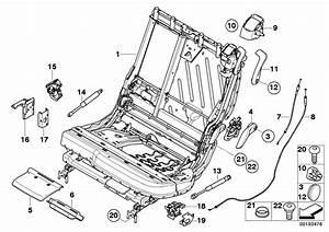 Bmw X5 Bracket Micro Switch  Seat  Rear  Frame