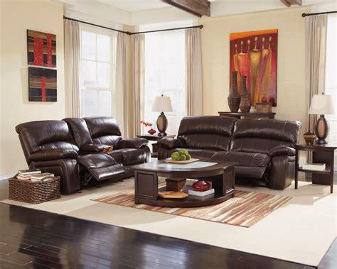 Damacio Dark Brown Reclining Living Room Set From Ashley