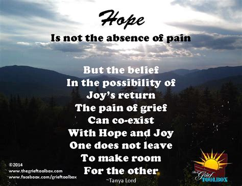 hope    absence  pain  poem  grief toolbox