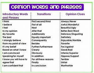 Opinion Words And Phrases