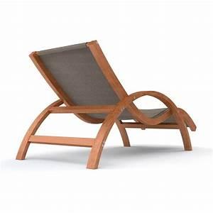 Chaise Relax Jardin : chaise longue en bois tropica avec coussin 170 x 70 cm ~ Teatrodelosmanantiales.com Idées de Décoration
