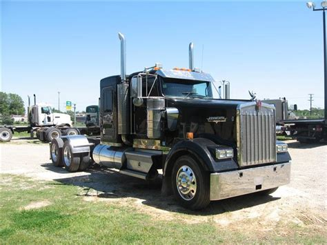 used kw for sale used 2007 kenworth w900 flattop tandem axle sleeper for