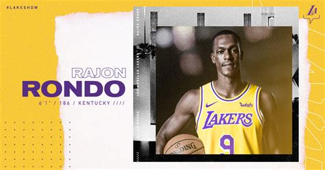 lakers  sign rajon rondo los angeles lakers