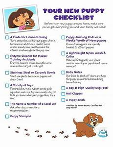 New puppy checklist home round for How to take care of a new dog