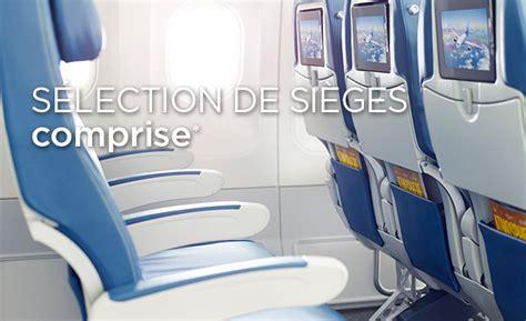 reservation siege air transat option plus air transat