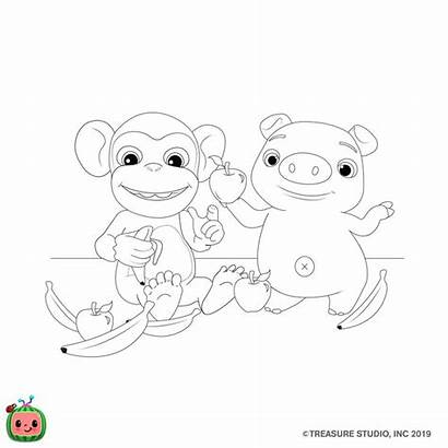Cocomelon Coloring Pages Class Pet Birthday Valentines
