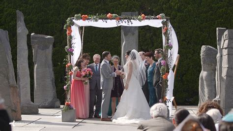 grounds for sculpture wedding video videography