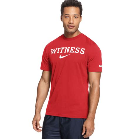 tshirt new york lyst nike lebron witness basketball tshirt in for