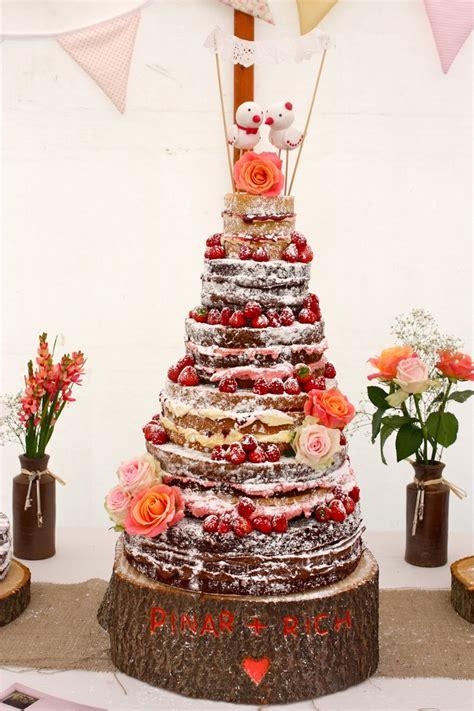 naked rustic wedding cakerustic autumn wedding cakenaked