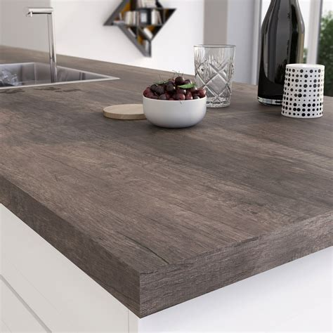 leroy merlin plan de travail cuisine plan de travail stratifié planky brun mat l 315 x p 65 cm