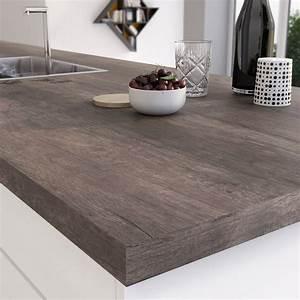 Protege Plan De Travail : plan de travail stratifi planky brun mat x cm ~ Premium-room.com Idées de Décoration