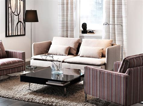 SÖderhamn Three-seat Sofa With Replösa Beige Cover And
