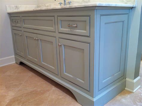 gray distressed kitchen cabinets vanity in distressed sherwin williams aloof grey 3918