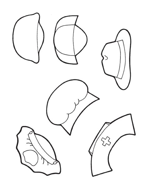 community helpers hats coloring pages preschool community helpers coloring pages az coloring pages