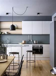 Cocinas, Modernas, Blancas, Y, Grises