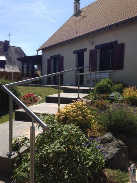 garde corps escalier exterieur garde corps ext 233 rieur sur une terrasse en escalier divinox