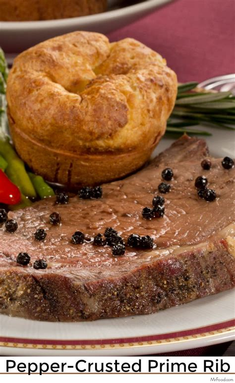 So what do you serve to complement this fabulous roast? Pepper-Crusted Prime Rib | Recipe | Christmas dinner menu ...