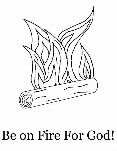 Fire Coloring God Pages Rice Printable Jesus