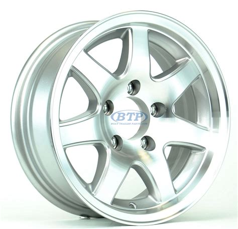 Boat Trailer Wheels Aluminum by Aluminum Boat Trailer Wheel 14 Inch 7 Spoke 5 Lug 5 On 4 1