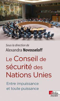 International Law Reporter: Novosseloff: Le Conseil de ...